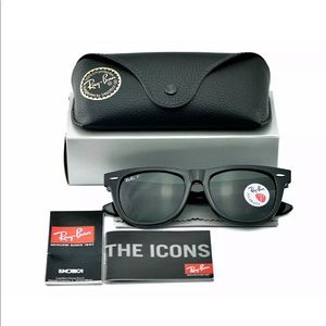 Ray-Ban Wayfarer Sunglasses RB2140 Black POLARIZED